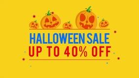 Venta de Halloween del fondo de la animación hasta 40 libre illustration