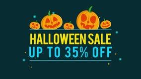 Venta de Halloween del fondo de la animación hasta 35 stock de ilustración