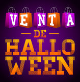 Venta de Halloween - Halloween sale spanish text Stock Image