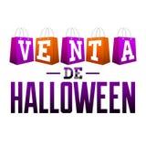 Venta de Halloween - Halloween sale spanish text Stock Photos