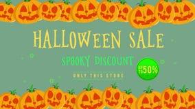 Venta de Halloween hasta 50 con el fondo de la animación de la calabaza libre illustration