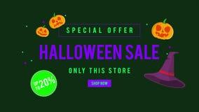 Venta de Halloween de la oferta especial solamente esta tienda hasta la animación 20 libre illustration