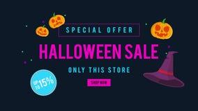 Venta de Halloween de la oferta especial solamente esta tienda hasta la animación 15 libre illustration