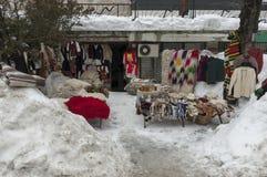 Venta de la calle de la acción tradicional del regalo en Bansko antiguo Imágenes de archivo libres de regalías