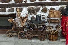 Venta de la calle de la acción tradicional del regalo en la ciudad antigua de Melnik Fotografía de archivo libre de regalías