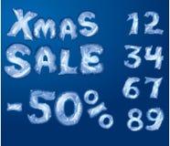 VENTA de la Navidad ilustración del vector