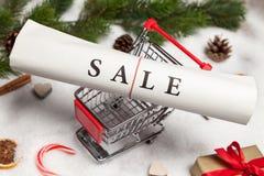 Venta de la Navidad Imagen de archivo libre de regalías