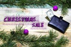Venta de la Navidad Imágenes de archivo libres de regalías