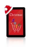 Venta de la Navidad, compras de Internet Fotografía de archivo libre de regalías
