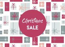 Venta de la Navidad Fondo del regalo de Navidad ilustración del vector