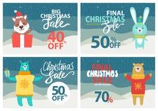 Venta de la Navidad hasta 40 del ejemplo del vector Imagen de archivo libre de regalías