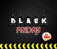 Venta de la oferta de Black Friday Fotos de archivo libres de regalías