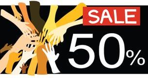 venta de la promoción del 50% Fotos de archivo libres de regalías