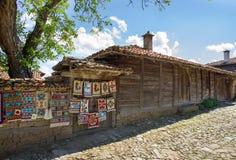 Venta de las alfombras hechas a mano búlgaras fotografía de archivo libre de regalías