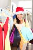 Venta de las compras de la Navidad Fotografía de archivo libre de regalías