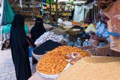 Venta de las especias en Yemen Imagen de archivo libre de regalías
