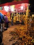 Venta de las flores durante Año Nuevo lunar chino Foto de archivo