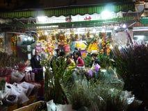 Venta de las flores durante Año Nuevo lunar chino Imagenes de archivo