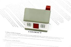 Venta de las propiedades inmobiliarias Foto de archivo libre de regalías