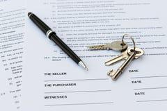 Venta de las propiedades inmobiliarias Foto de archivo