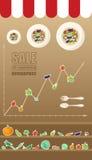 Venta de las verduras infographic Fotografía de archivo libre de regalías