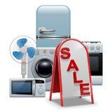 Venta de los aparatos electrodomésticos del vector Fotos de archivo