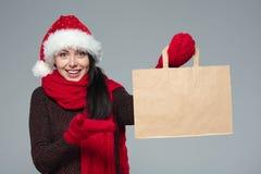 Venta de los días de fiesta, compras, concepto de la Navidad Foto de archivo libre de regalías