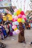 Venta de los globos foto de archivo libre de regalías