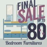 Venta de los muebles el hasta 80 por ciento Fotografía de archivo libre de regalías