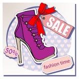 Venta de los zapatos Imagen de archivo libre de regalías