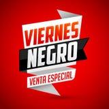 Venta de nègre de Viernes particulier - traduction espagnole : Vente spéciale de Black Friday illustration stock