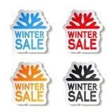 Venta de papel del invierno, etiqueta engomada - oferta de la Navidad Imagenes de archivo