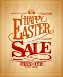 Venta de Pascua, diseño de los ahorros del día de fiesta Fotografía de archivo libre de regalías