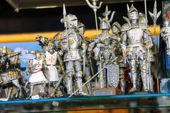 Venta de recuerdos en la tienda de regalos en San Marino La república o imagen de archivo libre de regalías