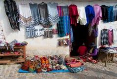 Venta de tejer en Perú Fotografía de archivo