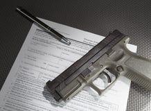 Venta del arma de fuego Fotografía de archivo