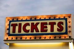 Venta del boleto Foto de archivo libre de regalías