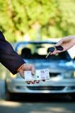 Venta del coche Imagen de archivo libre de regalías