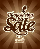Venta del día de la acción de gracias. Fotografía de archivo libre de regalías