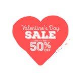 Venta del día de tarjetas del día de San Valentín Corazón sucio con descuento de la estación Aviador creativo del sitio web stock de ilustración