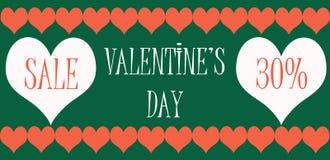 Venta del día de tarjetas del día de San Valentín stock de ilustración