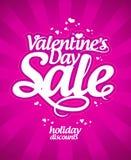 Venta del día del ` s de la tarjeta del día de San Valentín. Fotografía de archivo