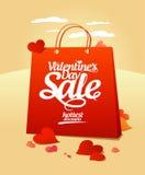 Venta del día del ` s de la tarjeta del día de San Valentín. Foto de archivo libre de regalías