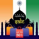 Venta del día de la república de la India Fotografía de archivo libre de regalías