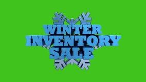 Venta del inventario del invierno - comercialización promocional y publicidad - estacional ilustración del vector