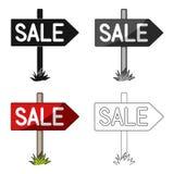 Venta del letrero Solo icono del agente inmobiliario en web del ejemplo de la acción del símbolo del vector del estilo de la hist Foto de archivo