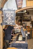 Venta del lugar del trdelnik checo Foto de archivo