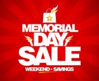 Venta del Memorial Day, ahorros del fin de semana Imagen de archivo