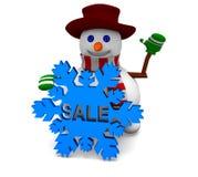 Venta del muñeco de nieve Imagenes de archivo