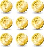 Venta del oro de la medalla Foto de archivo libre de regalías